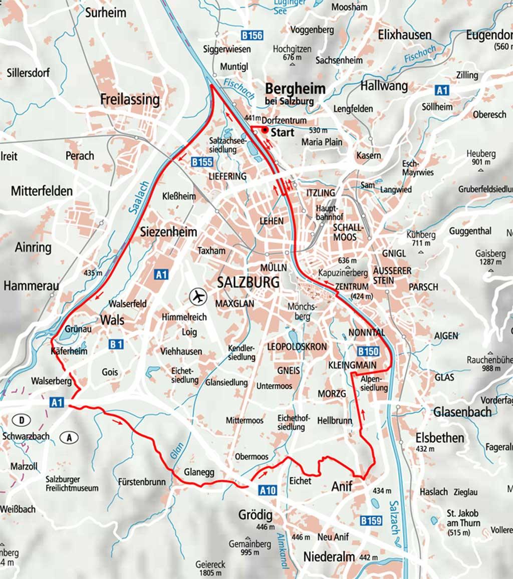 Bike Tours Bergheim Tourismusverband Bergheim Bei Salzburg